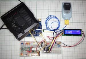 加速度センサーの値を液晶に表示した