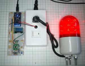 地震計と回転灯