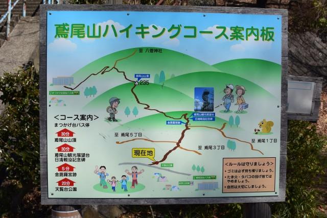 鳶尾山ハイキングコース